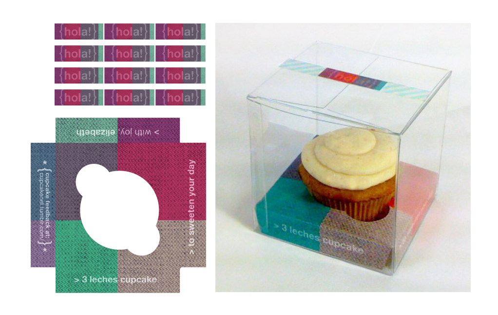 Cupcake packaging sketches